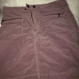 NWOT purple suede mini skirt